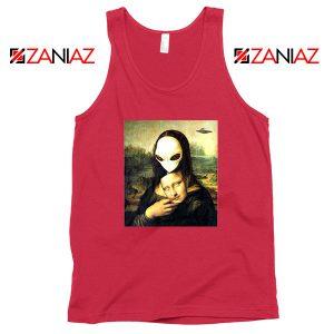 Mona Lisa Alien Red Tank Top
