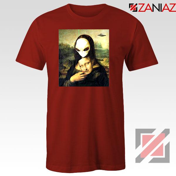 Mona Lisa Alien Red Tshirt