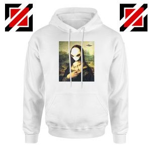 Mona Lisa Alien White Hoodie
