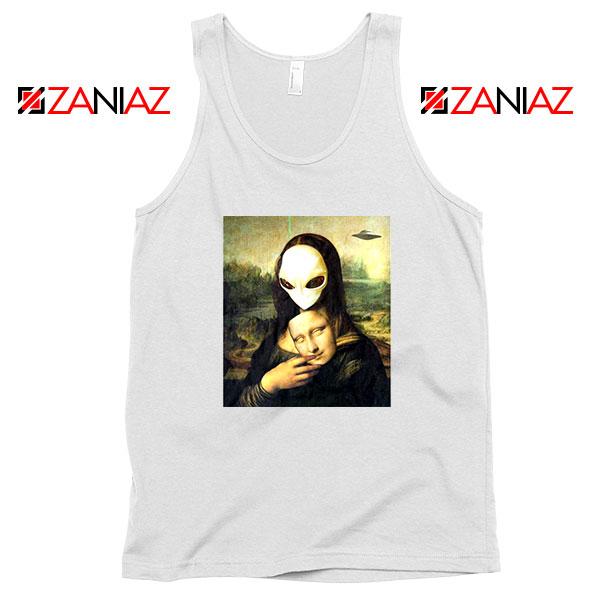 Mona Lisa Alien White Tank Top