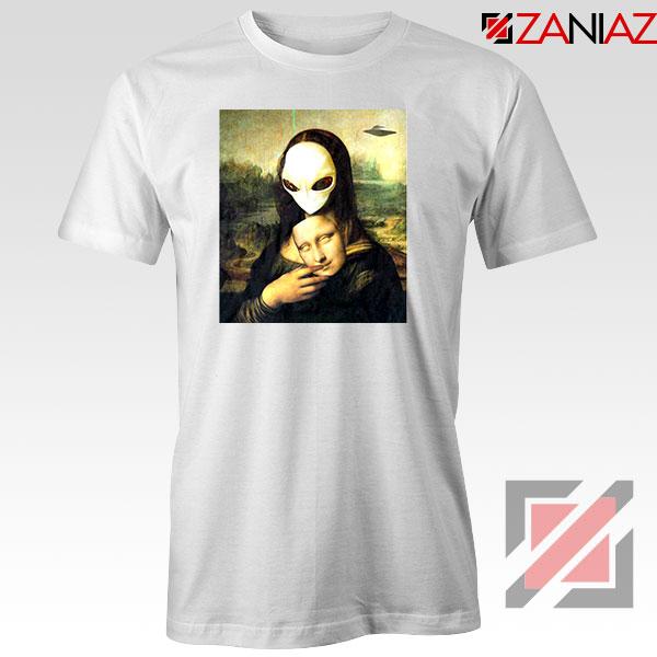 Mona Lisa Alien White Tshirt