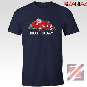 Not Today Santa Navy Blue Tshirt