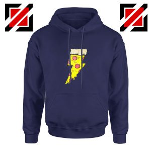 Pizza Power Navy Blue Hoodie