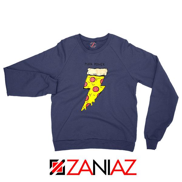 Pizza Power Navy Blue Sweatshirt