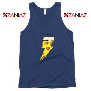 Pizza Power Navy Blue Tank Top