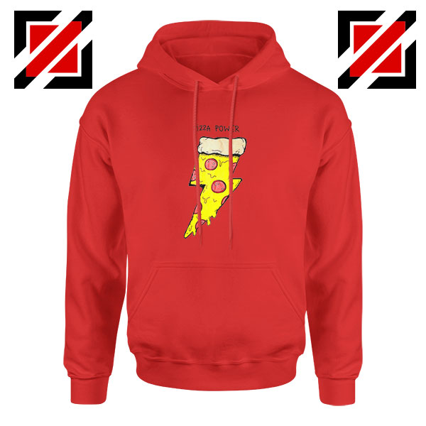 Pizza Power Red Hoodie