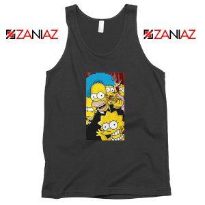 Simpsons Family Black Tank Top