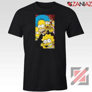 Simpsons Family Black Tshirt