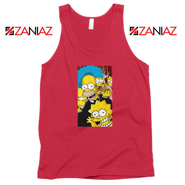 Simpsons Family Red Tank Top