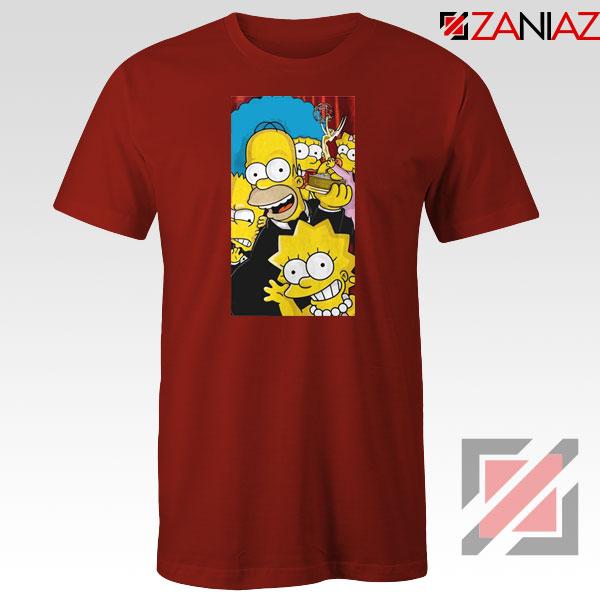 Simpsons Family Red Tshirt