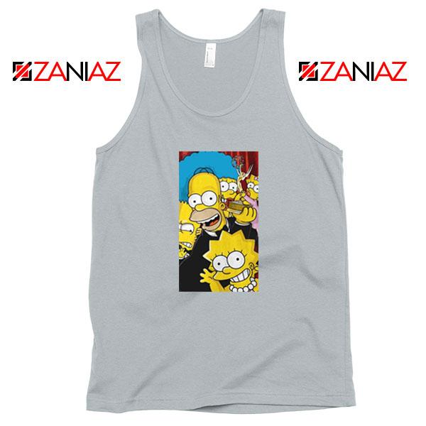 Simpsons Family Sport Grey Tank Top