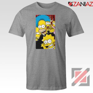 Simpsons Family Sport Grey Tshirt