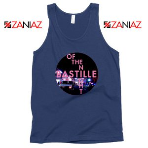 Single Of The Night Navy Blue Tank Top