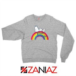 Snoopy Dream Rainbow Sport Grey Sweatshirt