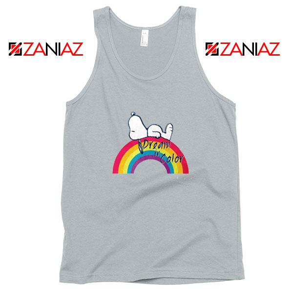 Snoopy Dream Rainbow Sport Grey Tank Top