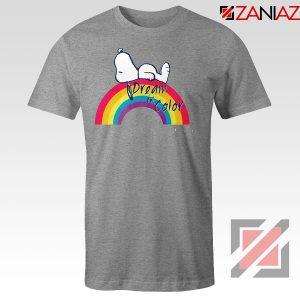 Snoopy Dream Rainbow Sport Grey Tshirt