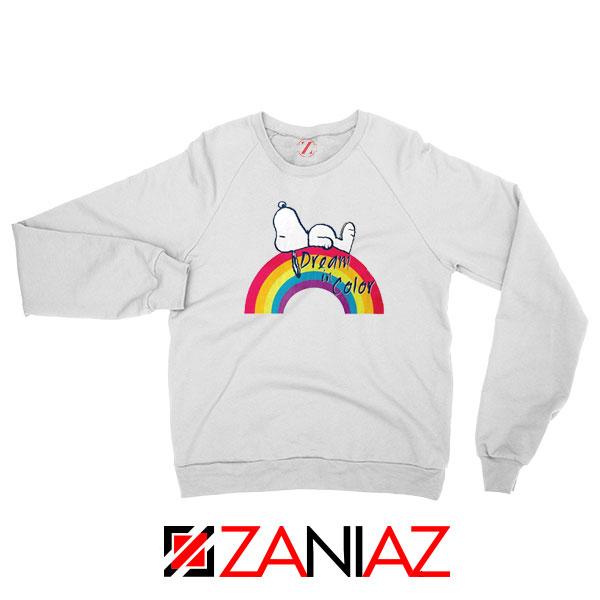 Snoopy Dream Rainbow Sweatshirt