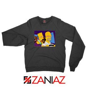 The Simpsons Merch Black Sweatshirt
