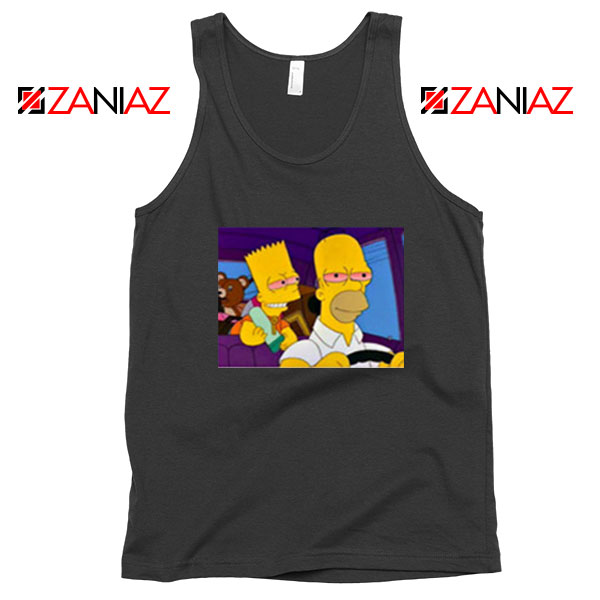 The Simpsons Merch Black Tank Top