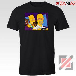 The Simpsons Merch Black Tshirt