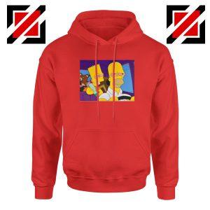 The Simpsons Merch Red Hoodie