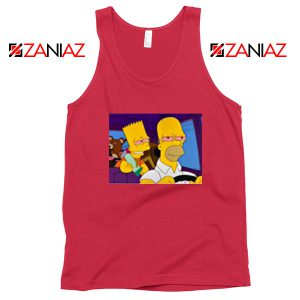 The Simpsons Merch Red Tank Top