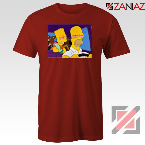 The Simpsons Merch Red Tshirt