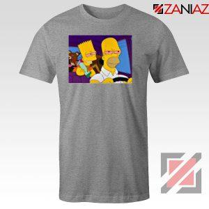 The Simpsons Merch Sport Grey Tshirt