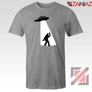 UFO Aliens Bigfoot Sport Grey Tshirt