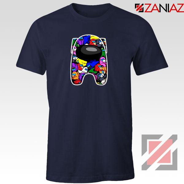 AMUS Online Game Graphic Navy Blue Tshirt
