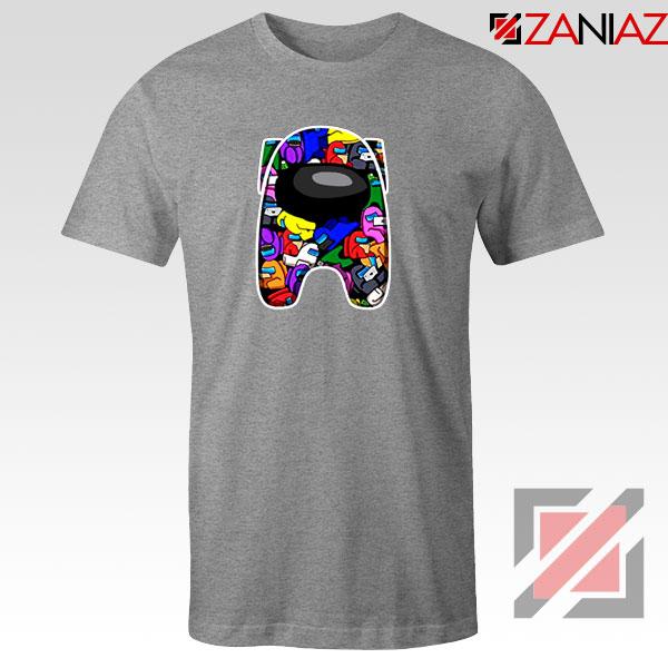 AMUS Online Game Graphic SPort Grey Tshirt