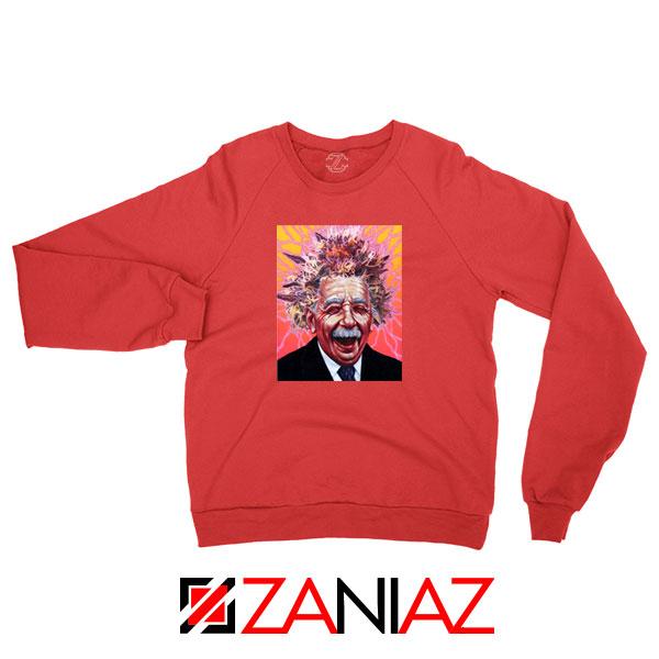 Albert Pinestein Graphic New Red Sweatshirt