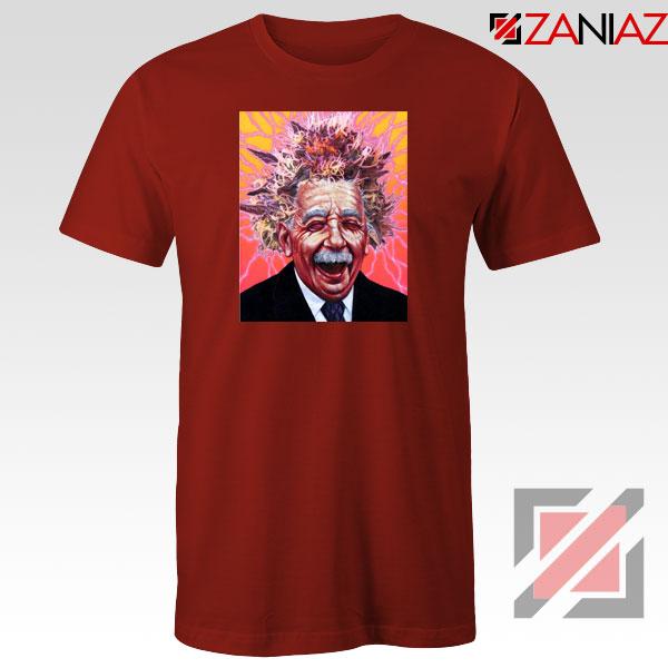 Albert Pinestein Graphic Red Tshirt