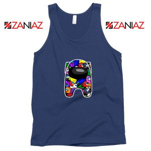 Among Us Online Game Best Navy Blue Tank Top