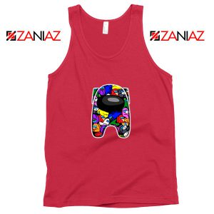 Among Us Online Game Best Red Tank Top