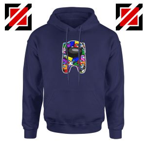 Among Us Online Game New Navy Blue Hoodie
