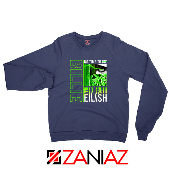 Billie Eilish American Singer Navy Blue Sweatshirt