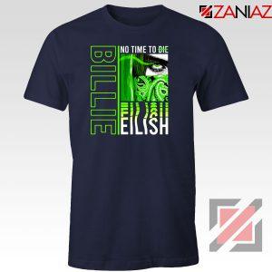 Billie Eilish American Singer Navy Blue Tshirt