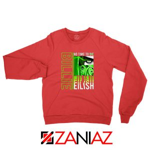 Billie Eilish American Singer Red Sweatshirt