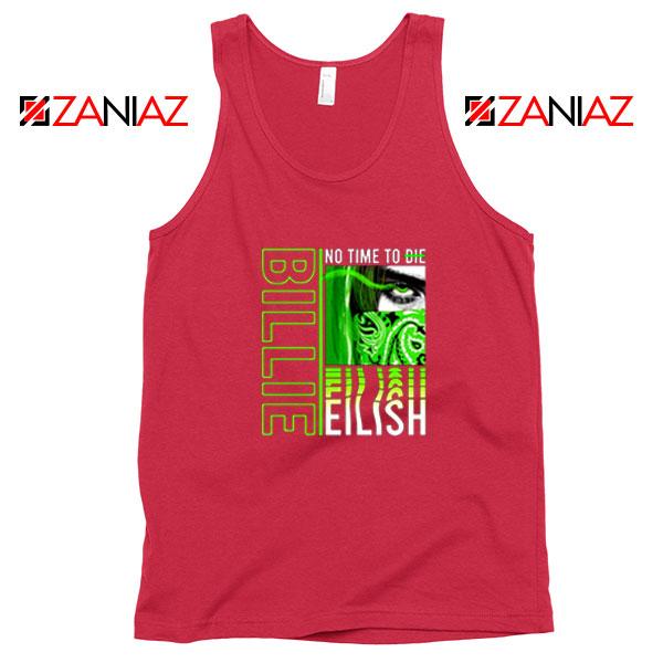 Billie Eilish American Singer Red Tank Top