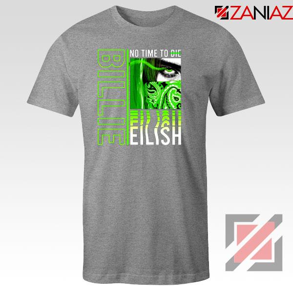 Billie Eilish American Singer Sport Grey Tshirt