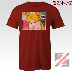Boys Are The Enemy Sailor Moon Red Tshirt