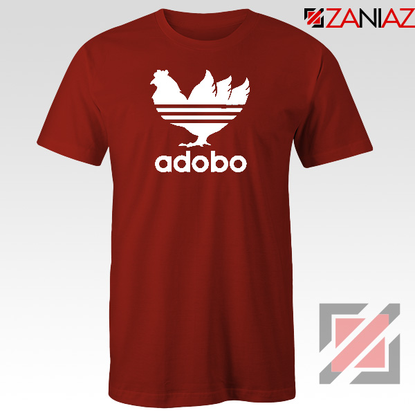 Chicken Adobo Filipino Parody Red Tshirt