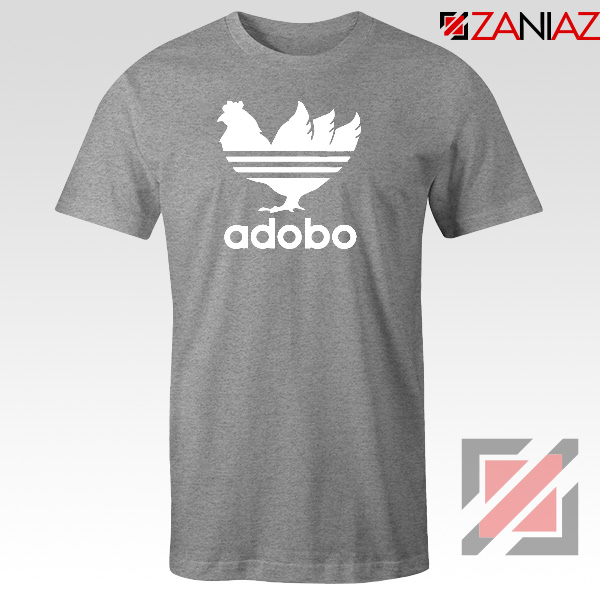 Chicken Adobo Filipino Parody Sport Grey Tshirt