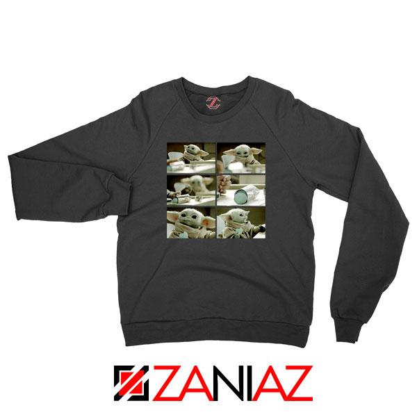 Cookie Stealer Grogu Graphic Black Sweatshirt