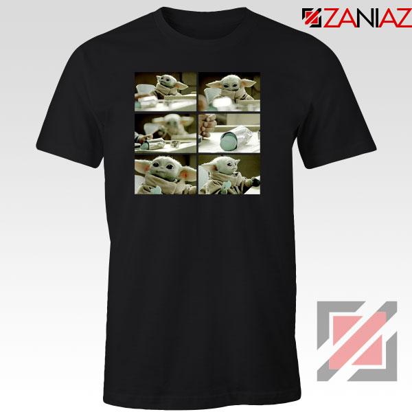 Cookie Stealer Grogu Star Wars New Black Tshirt