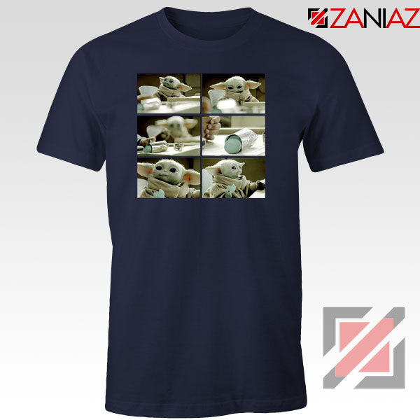 Cookie Stealer Grogu Star Wars New Navy Blue Tshirt