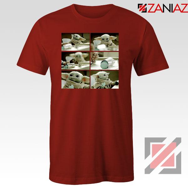 Cookie Stealer Grogu Star Wars New Red Tshirt