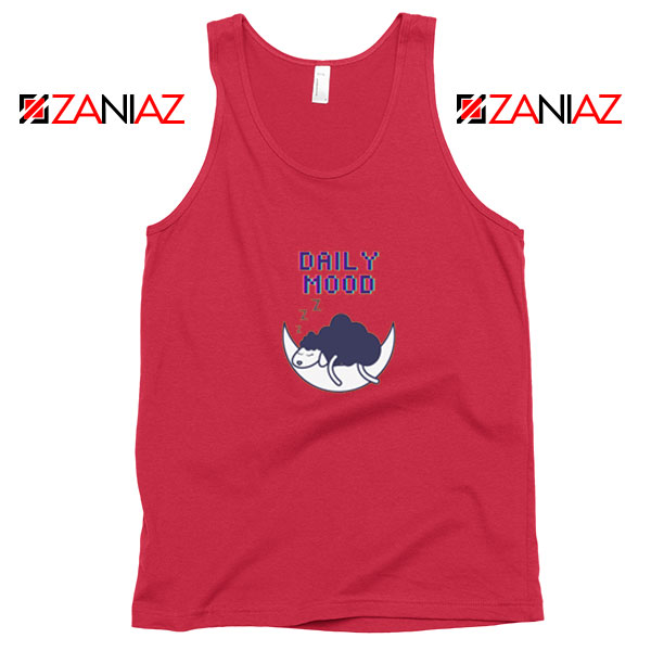 Daily Mood Laziness Best Red Tank Top