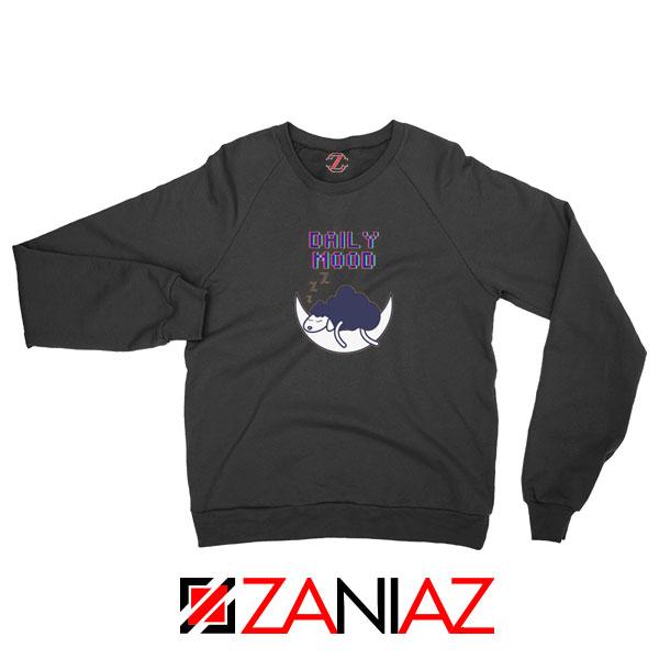 Daily Mood Laziness Black Sweatshirt